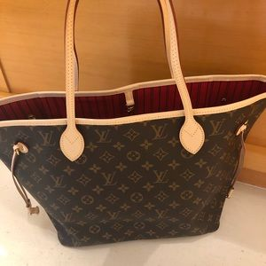 100% authentic LOUIS Vuitton Neverfull Mm monogram